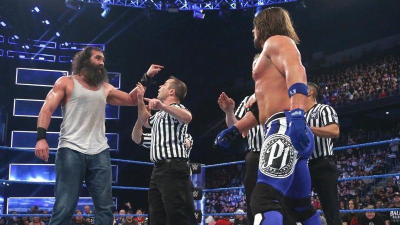 Luke Harper (left), AJ Styles