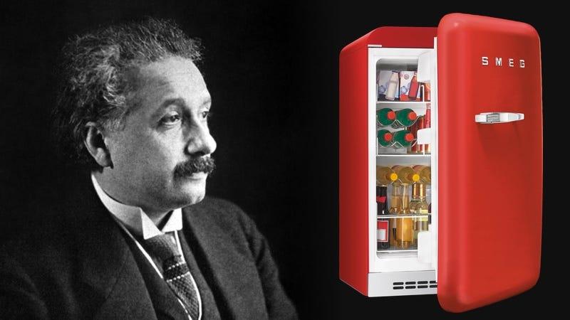 Illustration for article titled Después de formular la teoría de la relatividad, Einstein usó su tiempo libre para inventar un nuevo tipo de nevera
