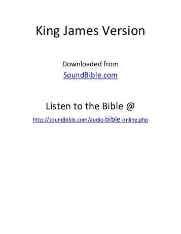Audio Bible Online Free