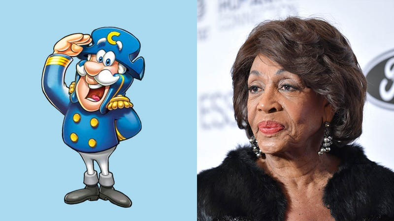 Illustration for article titled The Fairy Tale Ends: Cap'n Crunch And Maxine Waters Have Filed For Divorce After 27 Years Of Marriage