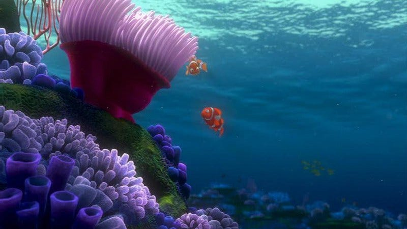 Finding Nemo, a terrifying movie about underwater monsters