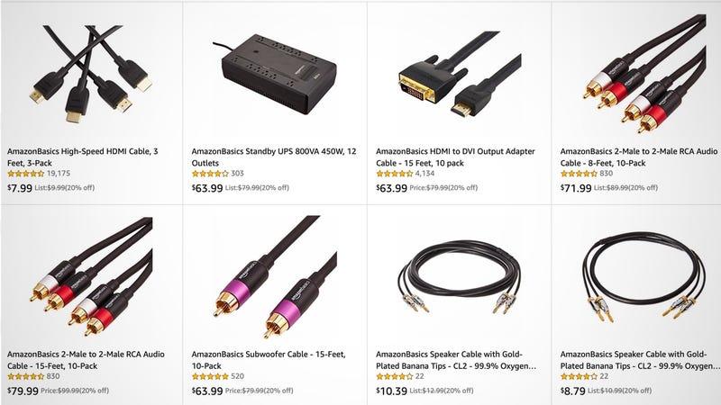 20% Off AmazonBasics AV Essentials | Amazon