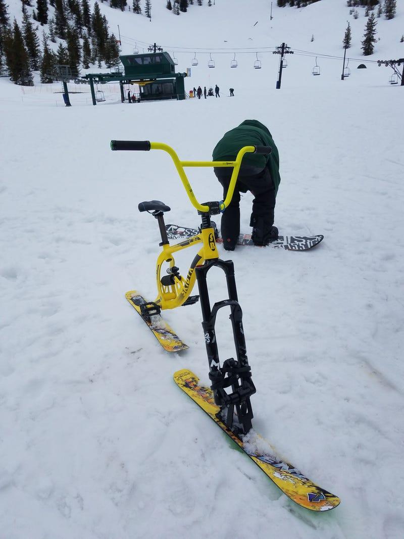 Illustration for article titled Ever Ski Bike?