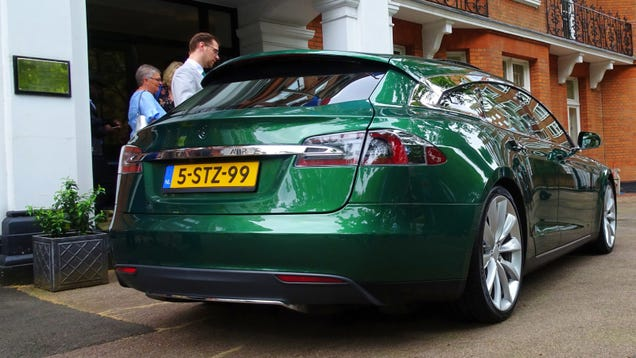 I Had A Look Around The Tesla Model S Shooting Brake And It's Pretty Cool