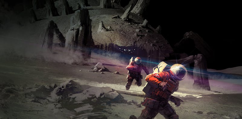 Illustration for article titled Concept Art Writing Prompt: Emergency Protocol — RUUUUUN!!!!!