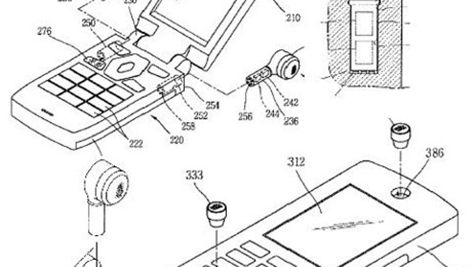 sony wireless headphones power cord - LG Files Patent for Way-Cool Detachable Wireless Earbuds