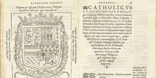 """Ad Catolicum, et Invictissimum Philippum Dei Gratia Hispaniarum Regem De augusta"""" by Juan de Sessa, aka Juan Latino, 1576"""
