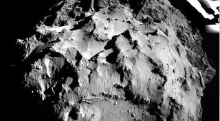 Illustration for article titled Primeras imágenes de Philae en su descenso hacia el cometa 67P