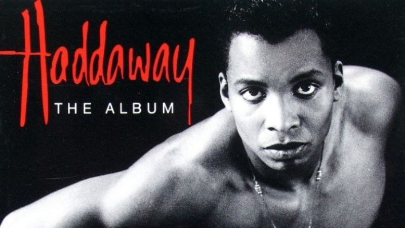 """Illustration for article titled Haddaway's """"What Is Love"""" is the one-hit wonder that keeps hitting home"""