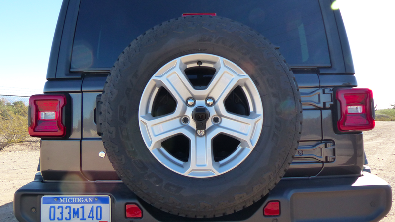 The Proper Spot For A Spare Tire Is On The Rear Door