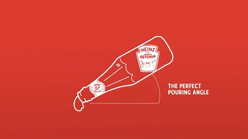 Illustration for article titled Heinz Canada invents bottle that helps you pour ketchup