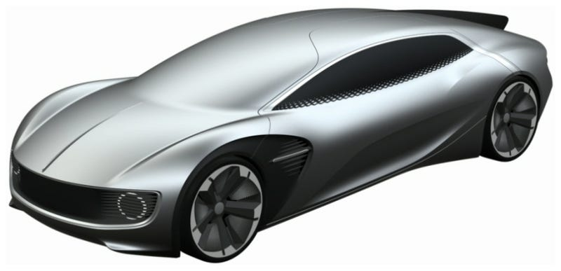 Illustration for article titled Is This Wacky Windshield-Less Volkswagen Design An Autonomous Concept Or Not?