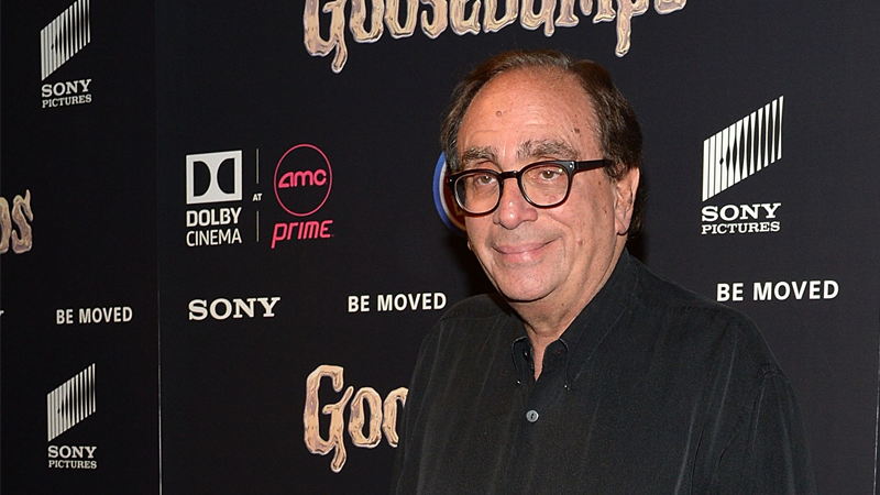 R.L. Stine attending the premiere of the Goosebumps movie in New York, circa 2015.