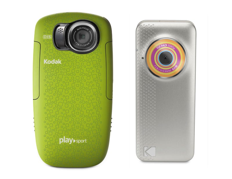Illustration for article titled Kodak Playsport Pocket Cam Gets Ruggeder, and the Playfull Is Its Tiny 1080p Sibling