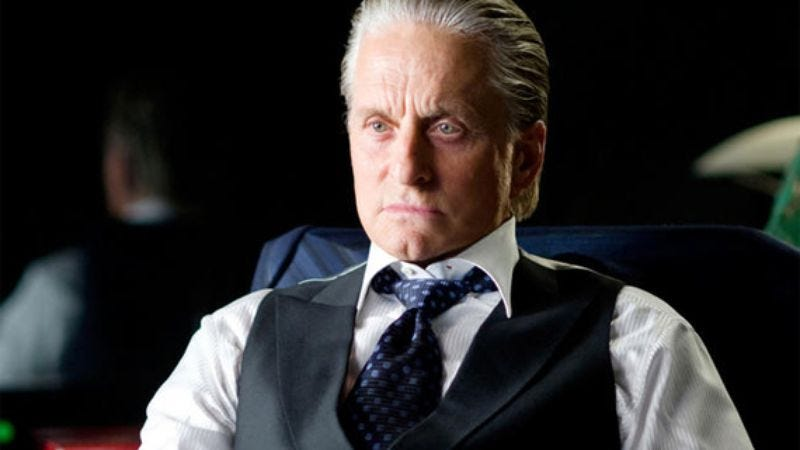 Illustration for article titled Michael Douglas says his cancer is gone