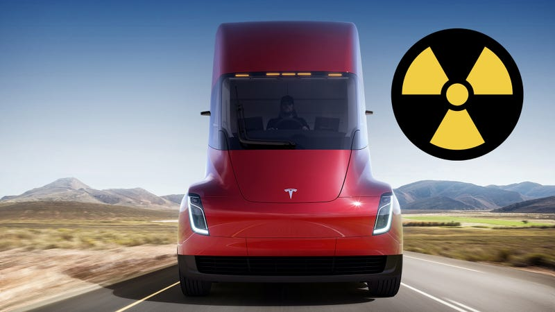 Elon Musk unveils the long range Tesla Semi electric truck