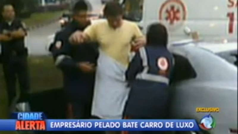 Illustration for article titled Half-naked Brazilian punk drunkenly crashes Camaro
