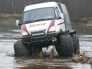Illustration for article titled In Russia, Monster Van Saves YOU!