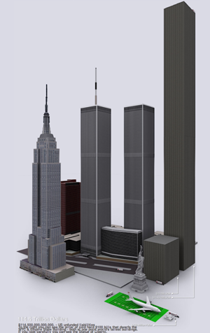 Illustration for article titled The U.S. Debt Would Make One Sweet $114.5 Trillion Skyscraper