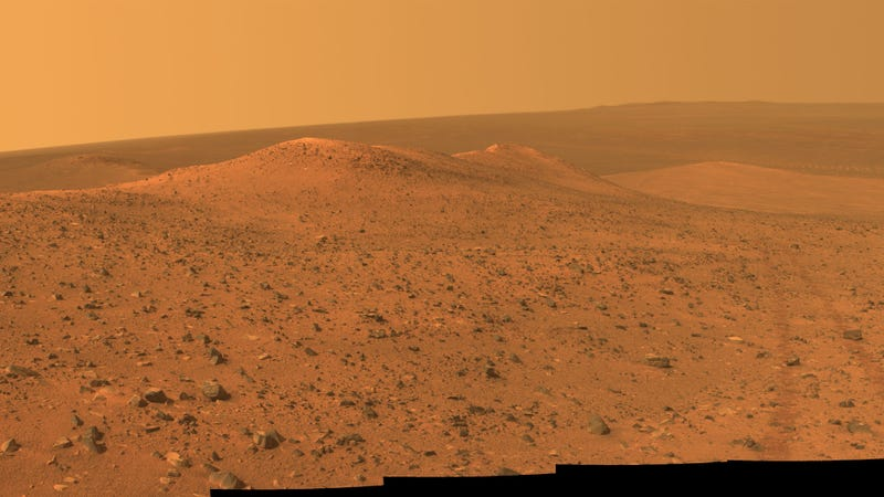 Martian landscape as photographed by Opportunity