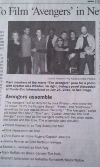Illustration for article titled Does this local newspaper spoil the villain in Joss Whedon's Avengers?