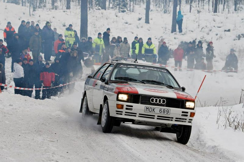 Illustration for article titled Rally Sweden Historic car porn being posted on WRC's FB page