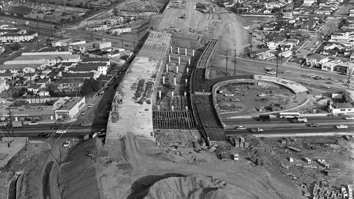 They Moved Mountains (And People) To Build L A 's Freeways