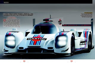 Illustration for article titled Holy Shit. That is a Martini 2014 Porsche LMP1.