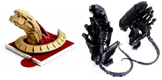 Illustration for article titled The best Lego Aliens in honor of H.R. Giger