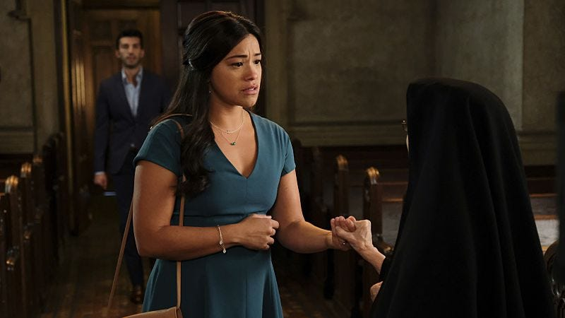 Illustration for article titled Jane The Virgin turns to Alfred Hitchcock for its suspenseful winter finale