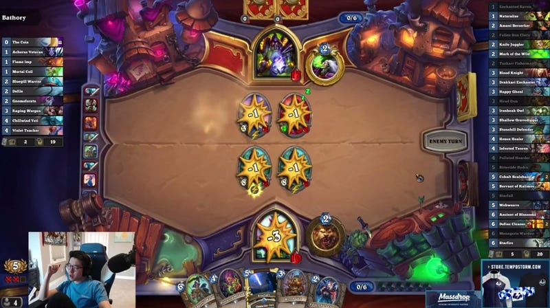 Illustration for article titled Hearthstone Pro Gets Instantly Wrecked By New Card