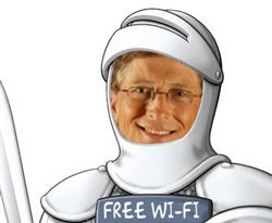 Illustration for article titled Bill Gates Says White Space Is for Free Wi-Fi; Broadcasters Want License and Regulation