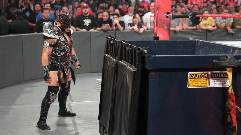 Kalisto watches Payback from the sidelines