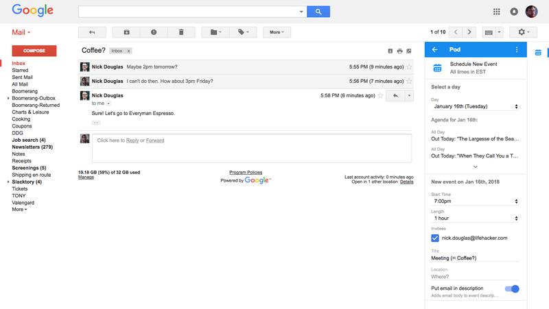 Illustration for article titled Make Calendar Events Inside Gmail With Pod