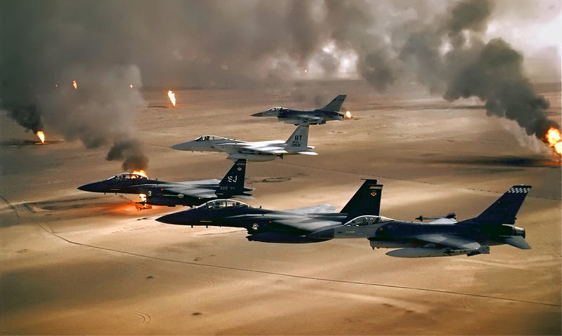 Illustration for article titled Operation Desert Storm By The Numbers On Its 25th Anniversary