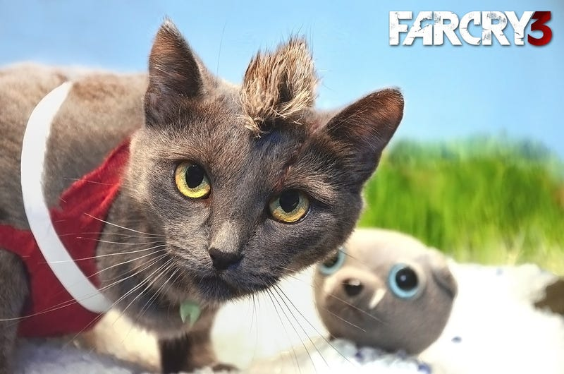 Illustration for article titled Far Cry 3 Cat Cosplay Is The Definition Of Insanity