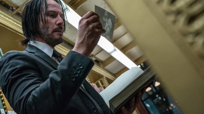 Illustration for article titled Keanu says John Wick is too busy killing dudes to pursue his real passion: Antique book restoration