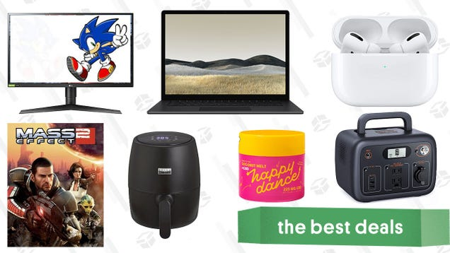 Thursday s Best Deals: Surface Laptop 3, AirPods Pro, LG 27  UltraGear Monitor, Mass Effect 2, Bella Air Fryer, Tacklife Portable Power Station, Happy Dance CBD, and More