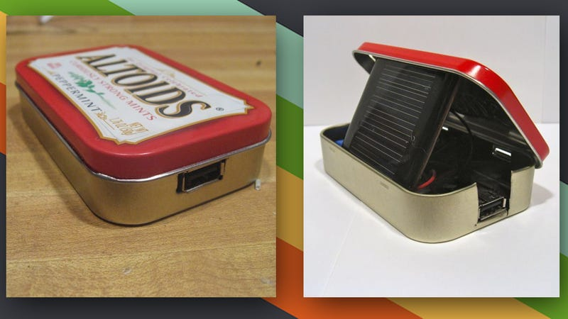 Illustration for article titled This DIY Altoids Tin Solar Charger Keeps Your Gadgets Juiced Up