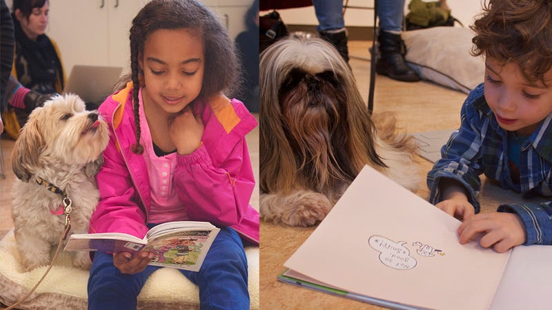 Illustration for article titled Reading with Dogs Program for Kids Is Arf-dog-rable (Too Much?)