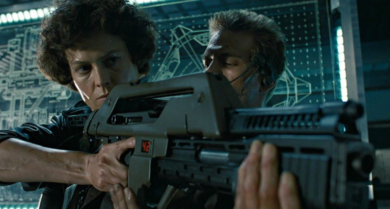 Sigourney Weaver and Michael Biehn in Aliens. Image: Fox