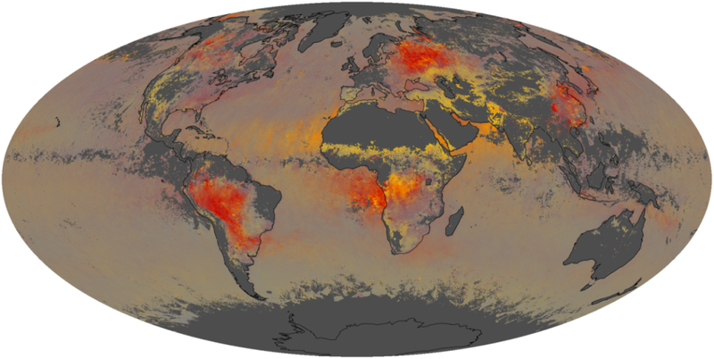Illustration for article titled Find out what particles are hiding in the air all around you with this awesome map