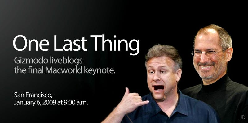 Illustration for article titled Macworld 2009 Keynote Liveblog Archive