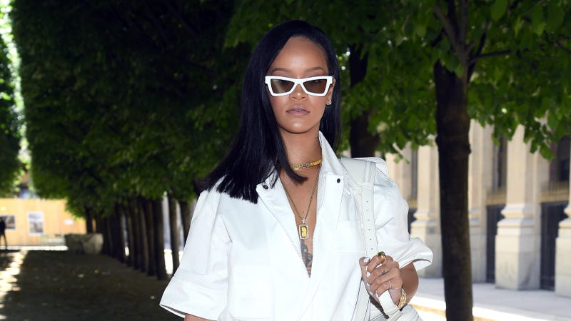 Rihanna attends the Louis Vuitton Menswear Spring/Summer 2019 show as part of Paris Fashion Week on June 21, 2018 in Paris, France.
