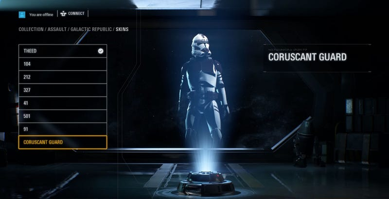 Camera Cachee Star Wars : Hidden character customization menu found in star wars: battlefront ii