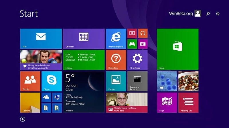 Illustration for article titled Una filtración muestra los cambios de la actualización de Windows 8.1