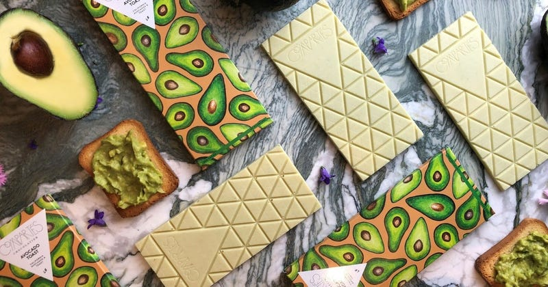 Illustration for article titled Millennials rejoice: Avocado toast now available in chocolate bar form