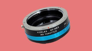 Illustration for article titled Canon Lens Adapter for Sony Cams Adds a Whole New Level of Useful