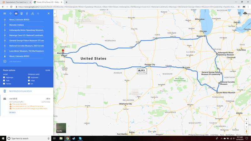 "Illustration for article titled Corvette Summer (2,670 mile road trip ""planning"")"