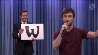 Jimmy Fallon and Daniel Radcliffe on The Tonight ShowOct. 28, 2014NBC screenshot